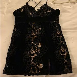 Free people black party dress size xs extra small